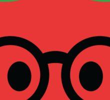 Tomato Emoji Noob Nerd Glasses Sticker