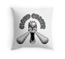 Skull Cloud Chaser Throw Pillow