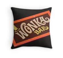 Charlie and the chocolate factory wonka bar Throw Pillow