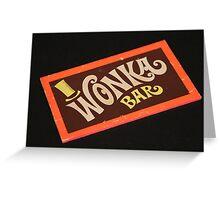 Charlie and the chocolate factory wonka bar Greeting Card