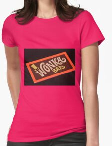 Charlie and the chocolate factory wonka bar Womens Fitted T-Shirt
