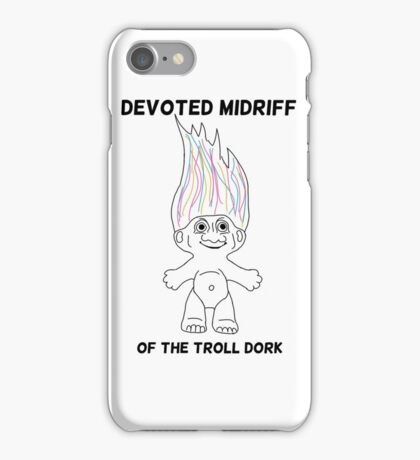 Devoted Midriff of the Troll Dork iPhone Case/Skin