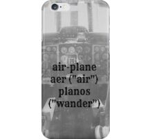 Airplane definition iPhone Case/Skin