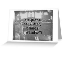 Airplane definition Greeting Card