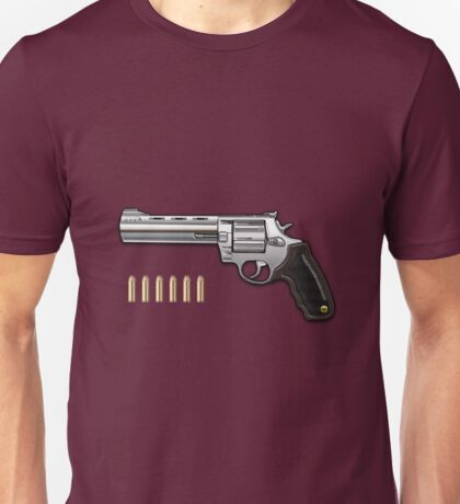 .44 Magnum Colt Anaconda on Red Velvet  Unisex T-Shirt