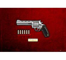 .44 Magnum Colt Anaconda on Red Velvet  Photographic Print