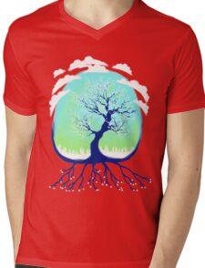 Venus Cherry Blossom Mens V-Neck T-Shirt