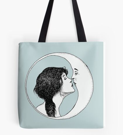 The Lady and the Moon Tote Bag