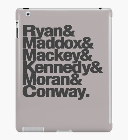 Tana French Dublin Murder Squad Charcoal Ampersand List iPad Case/Skin
