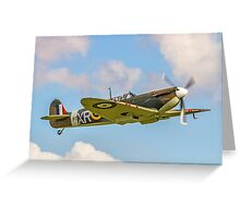 Supermarine Spitfire Ia AR213 G-AIST Greeting Card