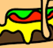 Melting Burger Sticker