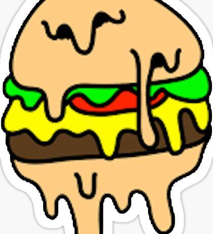 Melting Burger Sticker