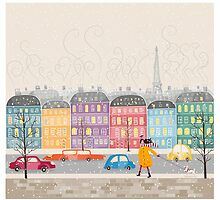 Paris in winter by wildfloweret