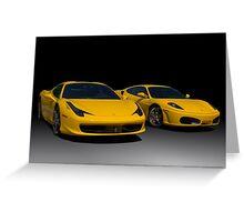 2010 Ferrari and 2006 Ferrari  Greeting Card