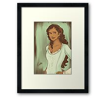 Gwen in Green Framed Print