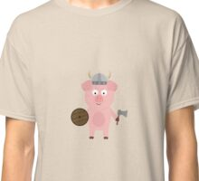 Viking Pig with helmet Classic T-Shirt