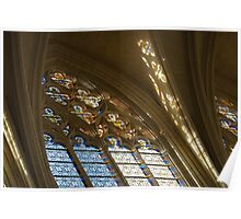 Glorious, Colorful Sunlight - Stained Glass Church Windows in a Royal Chapel in Paris, France Poster