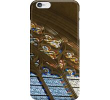 Glorious, Colorful Sunlight - Stained Glass Church Windows in a Royal Chapel in Paris, France iPhone Case/Skin