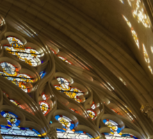 Glorious, Colorful Sunlight - Stained Glass Church Windows in a Royal Chapel in Paris, France Sticker