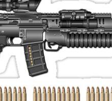 Colt M4A1 SOPMOD Carbine with 5.56 NATO Rounds on Red Velvet  Sticker