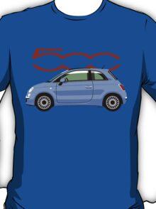 New Fiat 500 blue T-Shirt