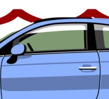 New Fiat 500 blue Sticker
