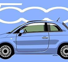 New Fiat 500 blue by car2oonz