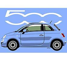 New Fiat 500 blue Photographic Print