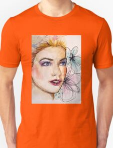 Woman watercolor painting Unisex T-Shirt
