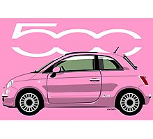 New Fiat 500 pink Photographic Print