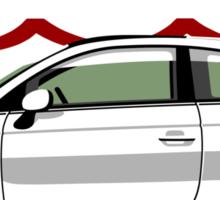 New Fiat 500 white Sticker