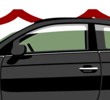 New Fiat 500 black Sticker