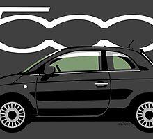 New Fiat 500 black by car2oonz