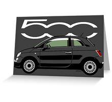 New Fiat 500 black Greeting Card