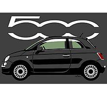 New Fiat 500 black Photographic Print