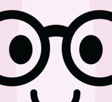Onion Emoji Nerd Noob Glasses Sticker