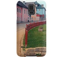Fancy fence and little village houses | architectural photography Samsung Galaxy Case/Skin