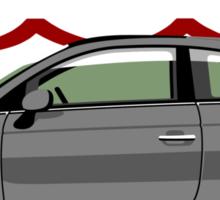 New Fiat 500 grey Sticker