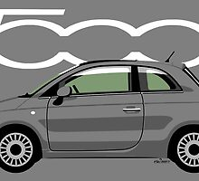 New Fiat 500 grey by car2oonz