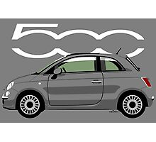 New Fiat 500 grey Photographic Print