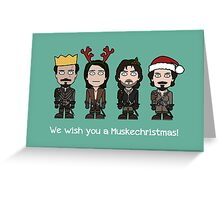 The Musketeers Christmas card Greeting Card
