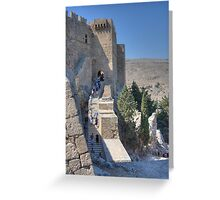 Stairs to Heaven, Lindos Greeting Card