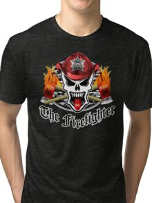 Fire Fighter Skull 2.2 Tri-blend T-Shirt