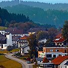 Autumn season village panorama | landscape photography by Patrick Jobst