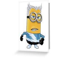 Quicksilver Minion Greeting Card