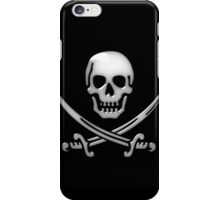 Glassy Pirate Skull & Sword Crossbones  iPhone Case/Skin