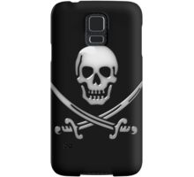 Glassy Pirate Skull & Sword Crossbones  Samsung Galaxy Case/Skin