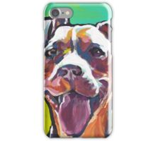 Pitbull Dog Bright colorful pop dog art iPhone Case/Skin