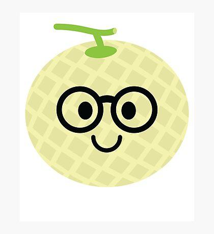 Melon Emoji Nerd Noob Glasses Photographic Print