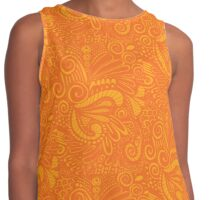 Pop Orange Contrast Tank